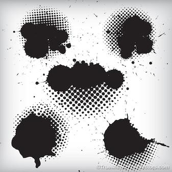 Zwarte inkt spatten achtergrond