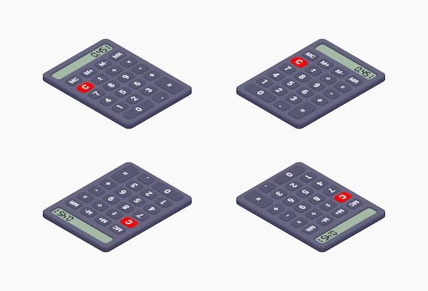 Zwarte isometrische rekenmachine