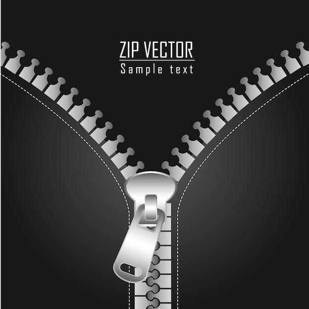 Zwarte jas met zilveren zip achtergrond vectorillustratie
