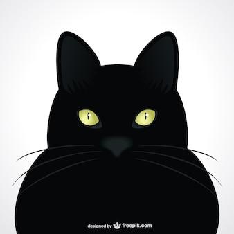 Zwarte kar groene ogen vector portret