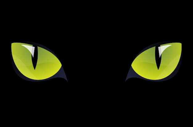 Zwarte kat groene ogen