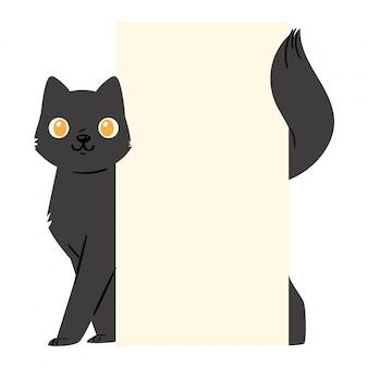 Zwarte kat kitten karakter