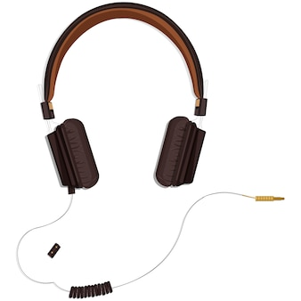 Zwarte koptelefoon