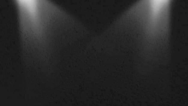 Zwarte korrel oppervlaktetextuur met verlichting