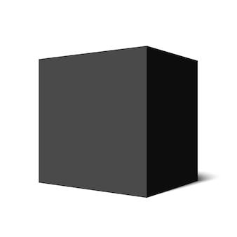 Zwarte kubus. doos. .