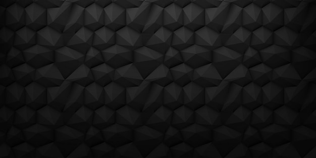 Zwarte laag poly 3d diamond achtergrond