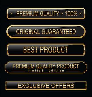 Zwarte labels van premiumkwaliteit