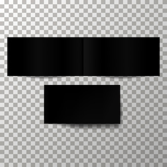 Zwarte lege dekking vector mockup.