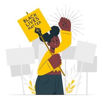 Zwarte levens zijn belangrijk concept illustratie