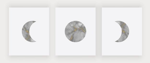 Zwarte maan kunst aan de muur afdrukken. moderne designposters