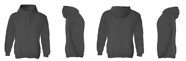 Zwarte man hoodieset