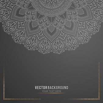 Zwarte mandala achtergrond