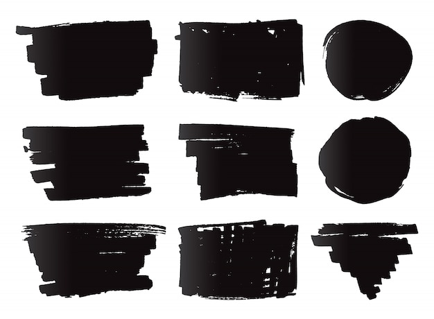 Zwarte markeringsbanners