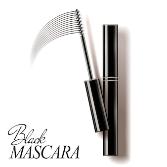 Zwarte mascara illustratie