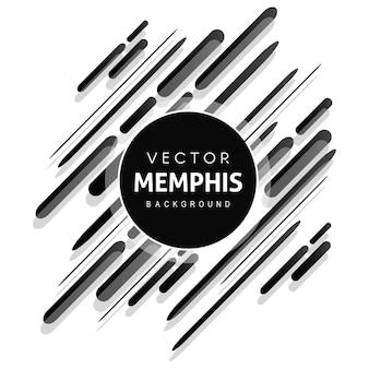 Zwarte memphis vector achtergrond