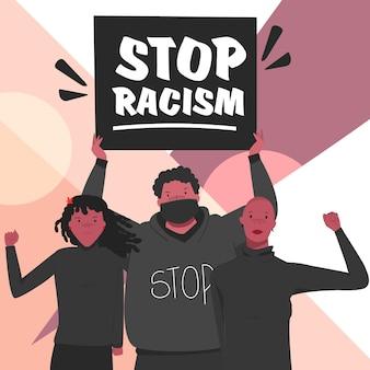 Zwarte mensen protesteren tegen racisme