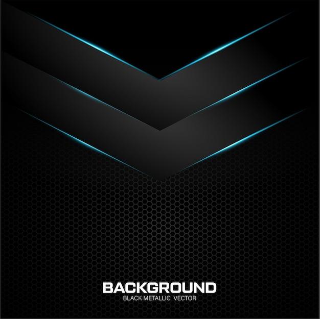 Zwarte metalen achtergrond met blauwe glanzend