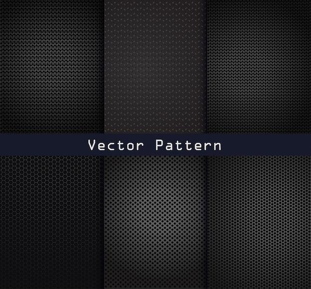 Zwarte metalen patronen textuur stalen achtergrond
