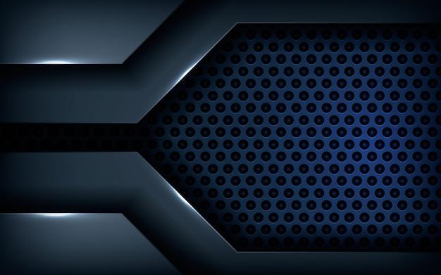 Zwarte metalen textuur achtergrond vector