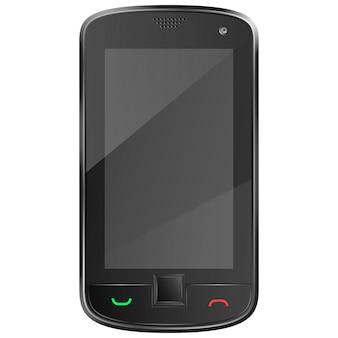 Zwarte mobiele telefoon vectorillustratie