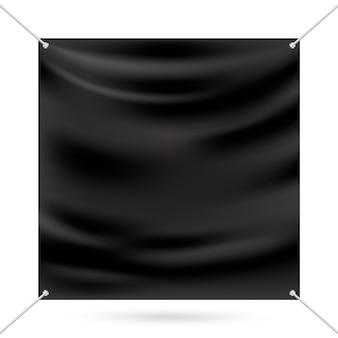 Zwarte mock-up vinylbanner
