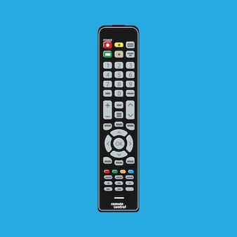 Zwarte moderne afstandsbediening voor tv