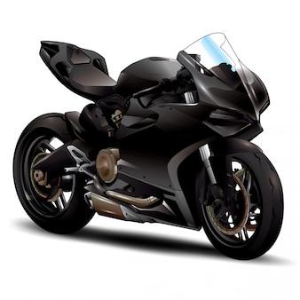 Zwarte motorfiets