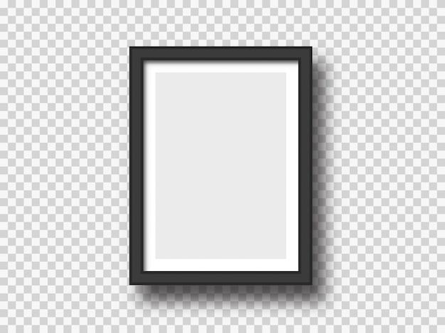 Zwarte muurfoto of fotolijst mock-up