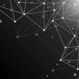 Zwarte neurale netwerkillustratie