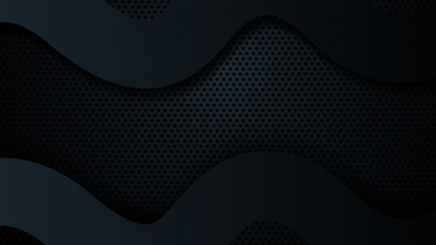 Zwarte overlappingsafmeting abstracte geometrische modern van de achtergrond.