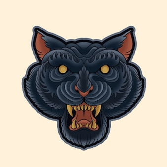 Zwarte panther hoofd