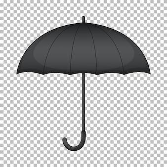 Zwarte paraplu zonder afbeelding aan