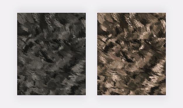Zwarte penseelstreek aquarel textuur