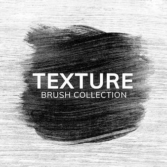 Zwarte penseelstreek textuur