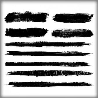 Zwarte penseelstreken ontwerp