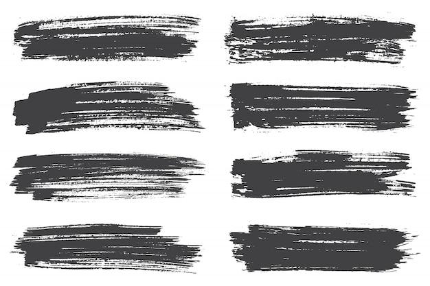 Zwarte penseelstreken