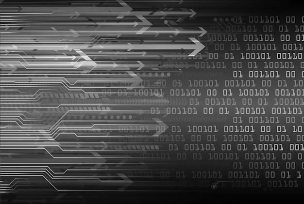 Zwarte pijl cyber circuit toekomstige technologie concept achtergrond