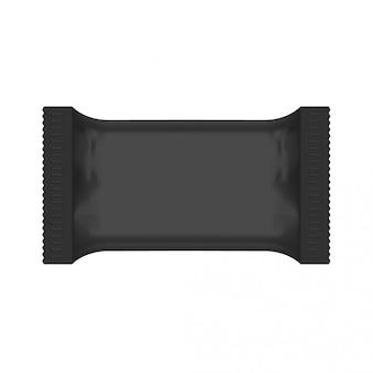 Zwarte plastic zak