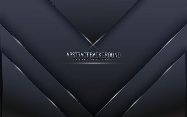 Zwarte premieachtergrond met luxedark. luxe zilver platina lijnen vector.