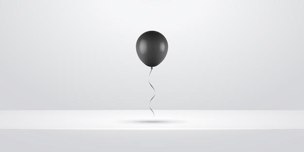 Zwarte realistische ballon illustratie