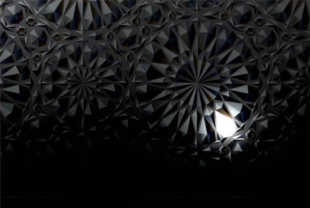 Zwarte reliëfachtergrond met een lichtgevend element. vector illustratie