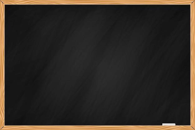 Zwarte schoolbordachtergrond met houten rand