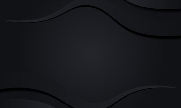 Zwarte strepen met schaduw vectorillustratie