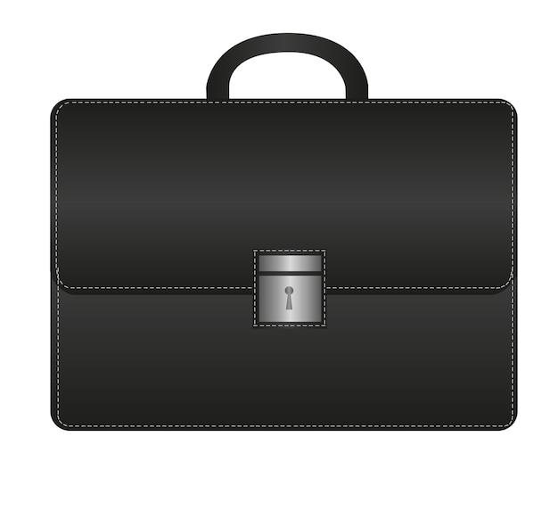 Zwarte suitecase geïsoleerd over witte achtergrond vector