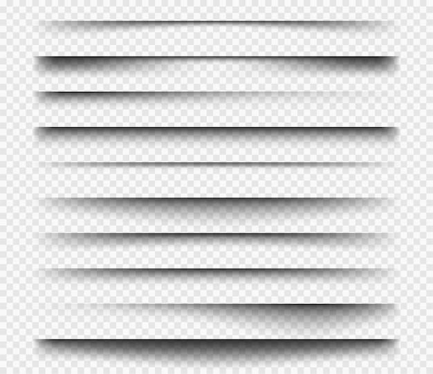 Zwarte transparante rechthoekige scheidingslijnen set