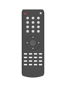 Zwarte tv-afstandsbediening 3d. realistische afstandsbediening vector. geïsoleerd op een witte achtergrond.