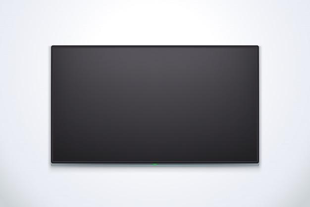 Zwarte tv met schaduw