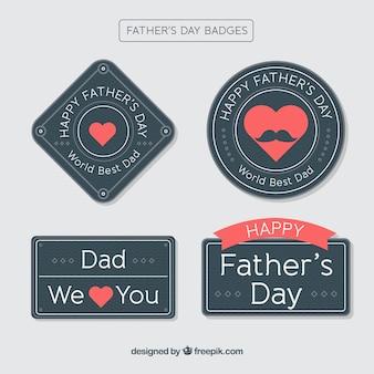 Zwarte vaderdag badge