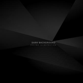Zwarte veelhoekige achtergrond