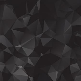 Zwarte veelhoekige illustratie, die uit driehoeken bestaat. geometrische achtergrond in origamistijl met gradiënt. driehoekig ontwerp voor uw bedrijf.